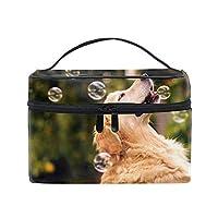犬コスメポーチ 化粧収納バッグ レディース 携帯便利 旅行 誕生日 プレゼント