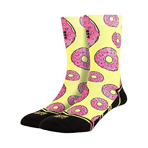 LUF SOX Classics Donuts - Socken für Damen und Herren, Unisex-Größe 35-39, 40-43 und 44-48, mehrfarbig, Ferse und Fußspitze leicht gepolstert