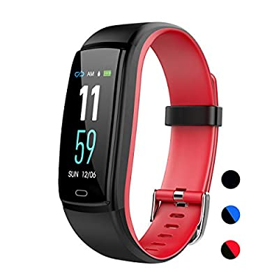 Mgaolo Fitness Tracker,Activity Health Tracker Waterproof Smart Watch Wristband with Blood Pressure Heart Rate Sleep Monitor Pedometer Step Calorie Counter for Android and iPhone(Red)