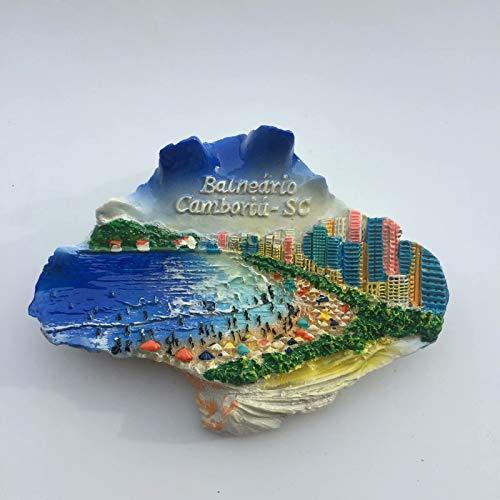 Weekino Balneario Camboriu Brasile Calamità da frigo 3D Polyresin Tourist City Viaggio Souvenir Collezione Regalo Forte Frigorifero Sticker