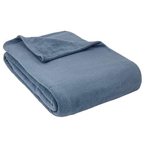 Cozy Fleece Inc.-Alta Luxury Hotel Fleece Blanket-King-Denim