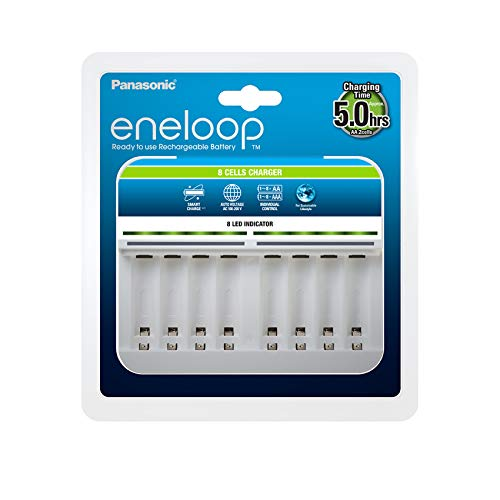Panasonic eneloop, Intelligentes Premium-Ladegerät für 1-8 Ni-MH Akkus AA/AAA
