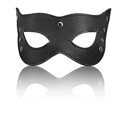 Máscara de ojo suave negra misteriosa sexy máscara de cuero Nightclub Máscara
