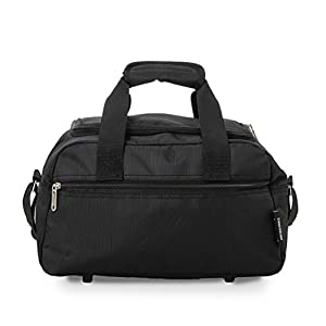 Aerolite Holdall Maximum Ryanair Hand Luggage Cabin Sized Flight Shoulder Bag Equipaje de Mano, 35 cm, 14 Liters, Negro (Black)