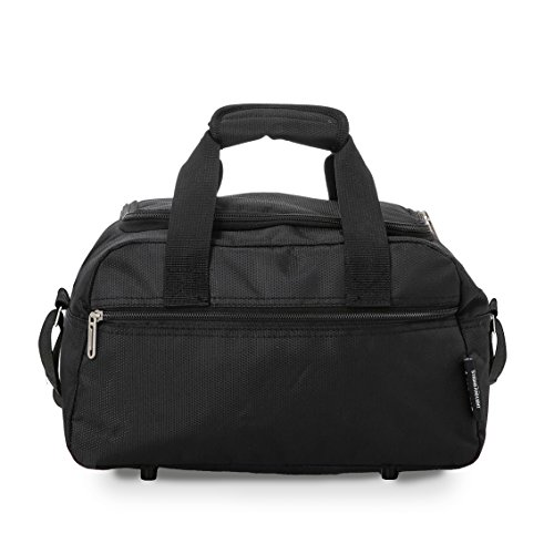 Aerolite Ryanair Holdall Cabin Sized Flight Shoulder Bag Hand Luggage, 35 cm, 14L, Black