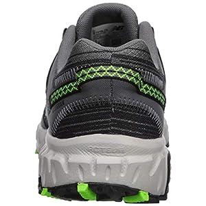 New Balance Men's 410v6 Cushioning Trail Running Shoe, Castlerock/Black/RGB Green, 10.5 D US