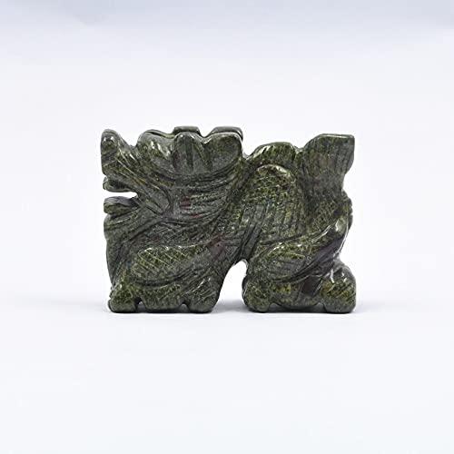 Aventurine Dragon Esculturas Natural Jade Tallado Piedra Animal Figurine para el hogar Fengshui Decoración de la oficina de la oficina natural Estatua de la estatua de la casa del calentamiento del es