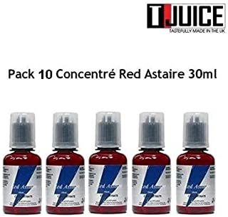 Pack 10X Aroma concentrado Red Astaire - 30ML - T Juice - Sin tabaco ni nicotina