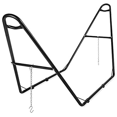 Best Choice Products Adjustable Universal Steel Hammock Stand for Hammocks 9-14ft Long - Black