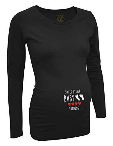 witzige Umstandsmode T Shirt langarm - sweet little Baby loading - by