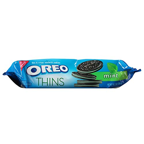OREO Thins Mint Flavored Creme Chocolate Sandwich Cookies, 10.1 oz
