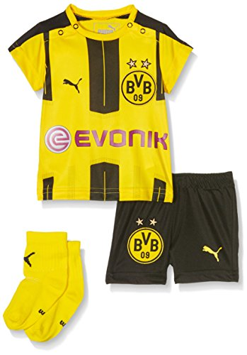 PUMA Baby Set BVB Home kit with Sponsor Logo Babyset, Cyber Yellow-Black, 74