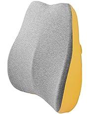 BEWALKER 腰クッション ランバーサポート 低反発 クッション オフィス 椅子 クッション 介護用 車用クッション 背中腰楽 腰枕 背当て 背もたれ 取付バンド カバー洗える