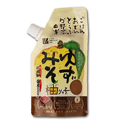 ゆずみそ 柚りっ子 120g チューブ 無添加 無農薬 国産材料 徳島 阿波 ごはんのお供 味噌