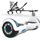 SOUTHERN WOLF Hoverboard e Kart Pacchetto, Scooter autobilanciato da 6,5 Pollici, Altoparlante Bluetooth e luci a LED per Ruote Hoverboard per Bambini, con Sedile per Go-Kart