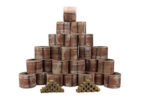 Mandelu Wachsrollen 30 Stück mit Anzündwürfeln