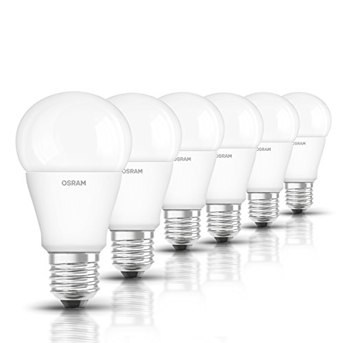 Osram Star Bombilla LED, E27, 10 watts, Blanco, pack de 6