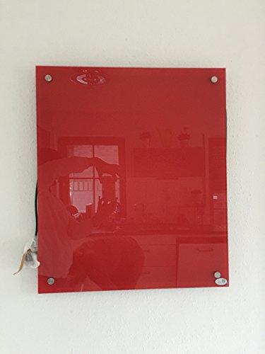 Glas Fern Infrarotheizung Rot 300 Watt 70x60cm inkl. Wandmontage 98{0eff46d7586feb9f4714328ba02c4ffae18cf95b896f0d3bd27ee21d2b7fc42c} Hitzeeffizienz