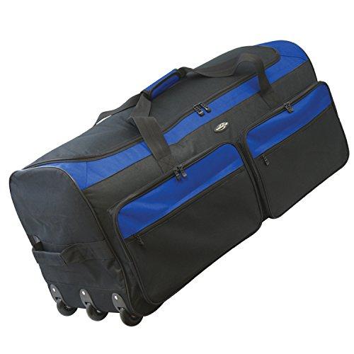 Travelers Club 36' X-Large Expandable Triple Wheeled Rolling Duffel Luggage Blue
