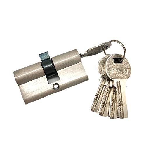 Seguridad de puerta y ventana de desbloqueo doble 60 70 80 90 mm llave cilíndrica cerradura de puerta de latón de entrada antirrobo con núcleo largo-60 mm