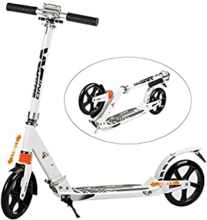 WINDWALKER Kick Scooter for Adults Teens 【Dual Suspension】【Adjustable Foldable】【Big Wheels】【Rear Fender Brake】 Aluminium Alloy Commuter Scooter for Kids Age 12+ Smooth Fast 180lb Weight Limit