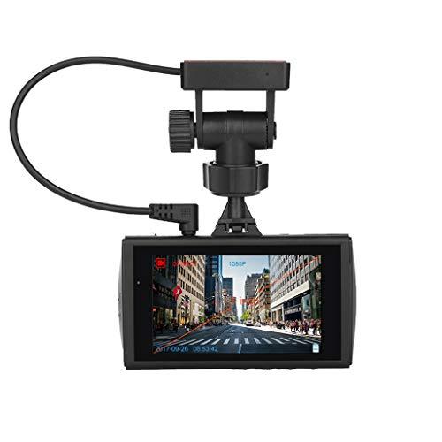WANG XIN Positionnement de la Piste GPS 3 Pouces Conduite enregistreur Vision Nocturne Starlight avec LED s'allume Avant et après Double Enregistrement