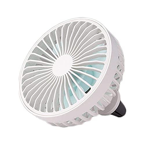 ZCZZ Ventilador de Coche USB con luz de Estado de ánimo LED...