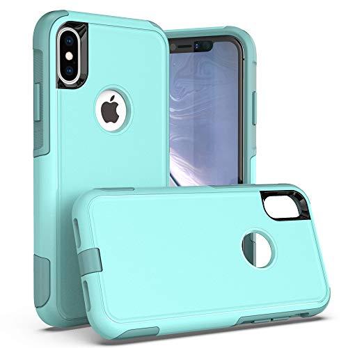 Krichit Pioneer Series Case for iPhone X Pioneer Case Heavy Duty Case iPhone Xs Case (Pioneer Aqua)
