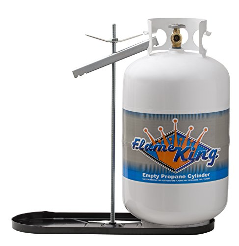 Flame King Dual RV Propane Tank Cylinder Rack for RVs and Trailers for 40lb Tanks - KT40MNT (Tanks not Included)