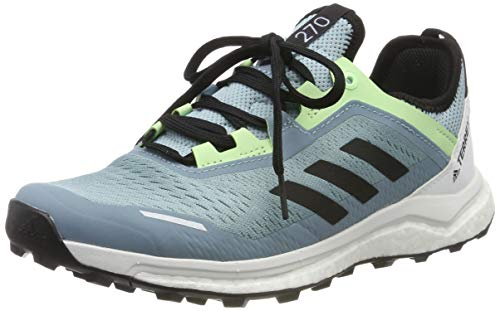 adidas Terrex Agravic Flow W, Zapatillas de Cross para Mujer, Gris (Ash Grey S18/Core Black/Glow Green Ash Grey S18/Core Black/Glow Green), 39 1/3 EU