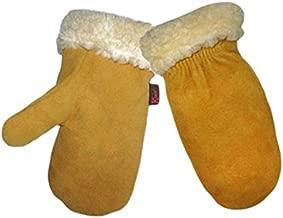 Kinco 1929PL-L Men's Lined Gloves, Deerskin Mittens, Large, Golden