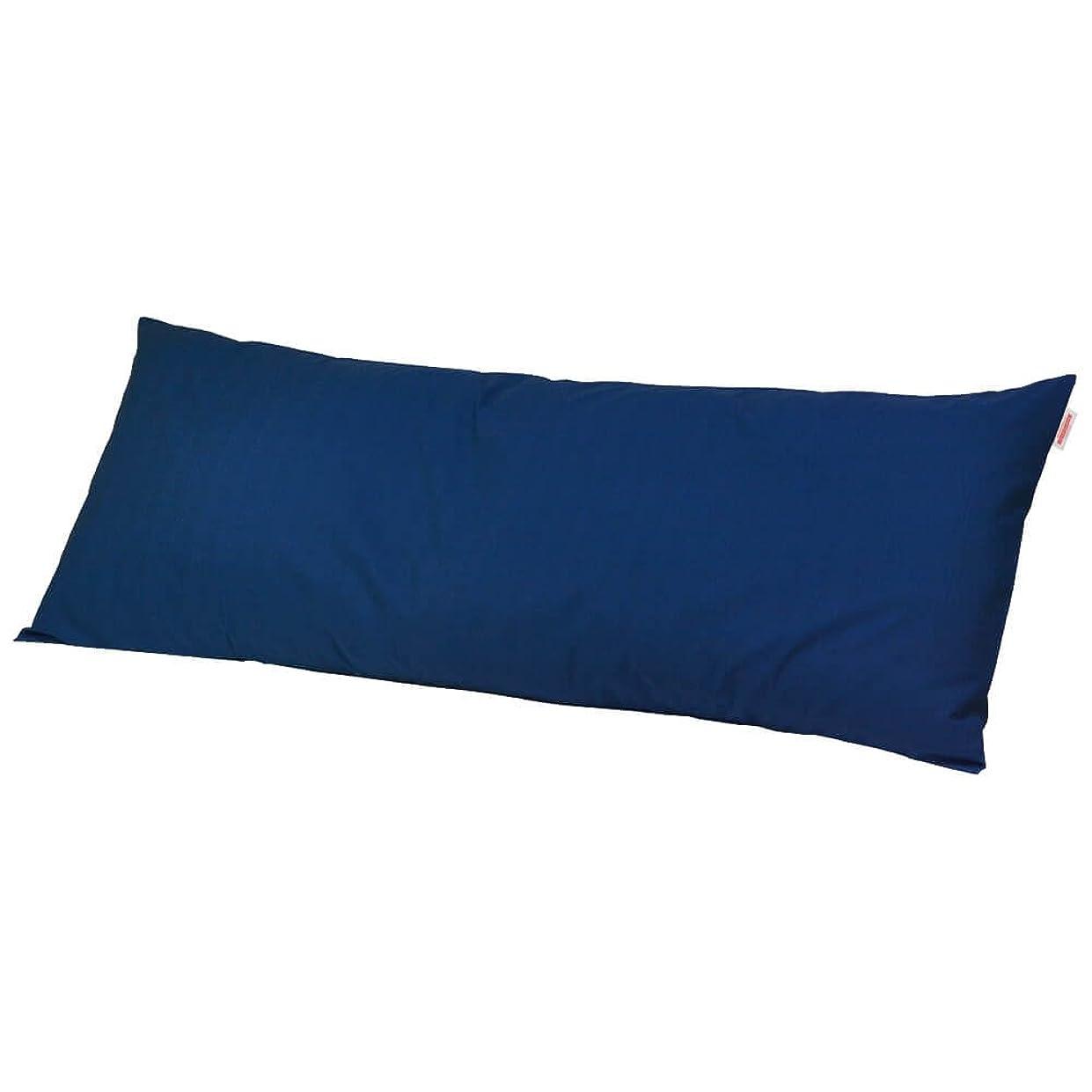 野ウサギ入浴ガジュマル枕カバー 60×170cmの枕用 紬クロス ファスナー式 ステッチ仕上げ 日本製 枕 綿 ブルー