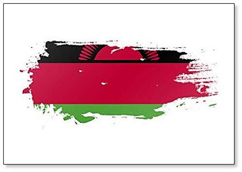 Malawi Flagge Grunge Brush Stroke Illustration Kühlschrankmagnet