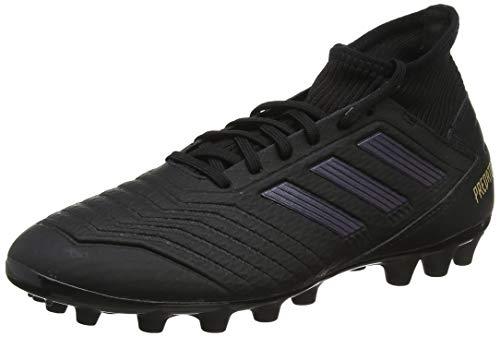 adidas Predator 19.3 AG, Zapatillas de Fútbol Unisex Adulto, Negro (Core Black/Core Black/Gold Metallic 0), 44 2/3 EU
