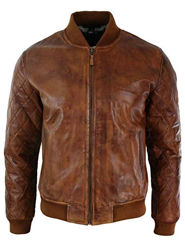 ROXA Leathers Men 100% Real Leather Jacket - Antique Brown Genuine Lambskin Leather Jacket for Men's RXBR09