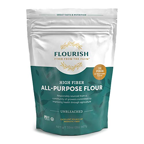 Flourish Fiber from the Farm - High Fiber/ Low Carb, Unbleached All Purpose Flour, 2 lbs