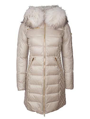 RockandBlue Damen Daunenmantel Winterjacke Lange Daunenjacke mit Abnehmbarer Echtfell Kapuze - Ciara in Light beige/Bleached (48, Light Beige)
