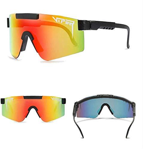 XINERJIA Gafas de sol polarizadas Pit Viper Sport para hombres y mujeres, gafas a prueba de viento al aire libre, lentes con espejo uv, gafas clásicas