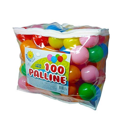Palline Colorate per Bambine Palline Bambine 1 Anno Palline Colorate per Piscina Gomma 100 Palline Morbide Colorate 100 Palline Colorate 8 cm Diametro
