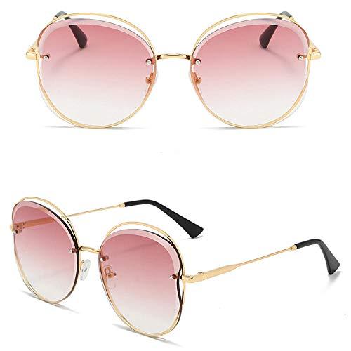 Gafas de sol para mujer, UV400 Gafas de sol grandes para mujer Gafas de sol Moda Gafas de sol para mujer-Rosa