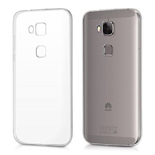kwmobile Hülle kompatibel mit Huawei G8 / GX8 - Slim Hülle Handy Schutzhülle Silikon Backcover Cover Transparent