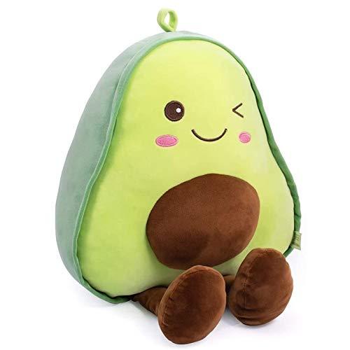 Kamenda Simpatico Cuscino di Peluche con Avocado Imbottito Animale, Avocado Plushie Toy Bambola Cuttable Morbido, Regalo di Compleanno per Bambini e Adulti
