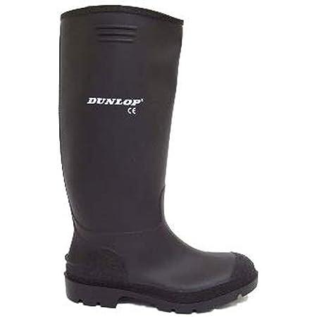 Mens Dunlop Black Wellies Wellington Welly Rain Boots, 10 UK, Black