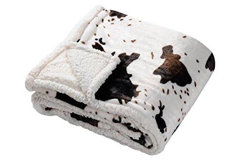 Lovely Casa - Manta de Vaca poliéster