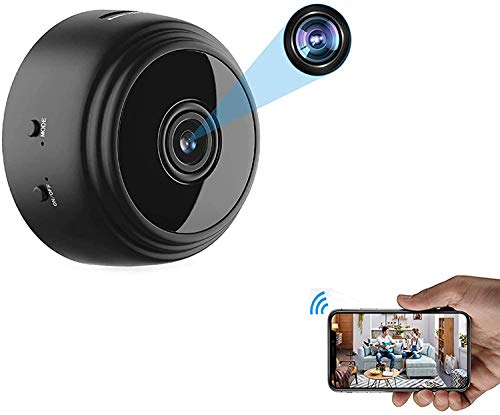 OVEHEL Spy Camera Wireless Hidden WiFi Camera with Remote View Portable HD 1080P Nanny Camera Indoor Home Security Camera Nanny Cam with Motion Detection Support iOS/Android