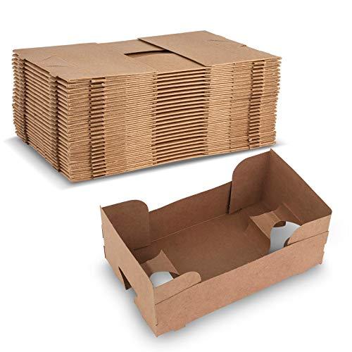 MT Products - Bandeja de 4 esquinas para alimentos y bebidas, tipo J, ideal para guardar alimentos y líquidos en un solo lugar en el estadio o el teatro (25 piezas)