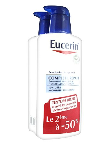 Eucerin Complete Repair Emollient Lotion 10{1a968bff184fdfb52ac25edcf80ca5d315d8a45d2059ee9e405dc9a6f75c8f0f} Urea 400ml + 1 Free by Eucerin
