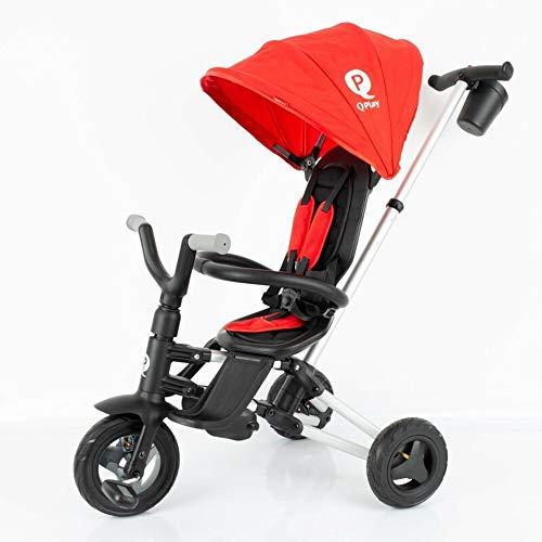 QPLAY - Triciclo Nova - Evolutivo - Plegable - Reclinable - Ideal para Niños de 10 a 36 Meses (máximo 25 Kg) (Rojo)