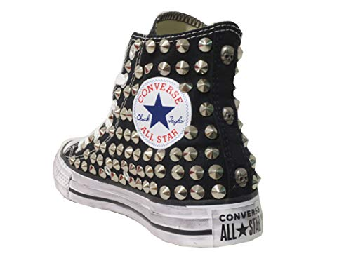 all Star Converse Borchie Nere Personalizzate