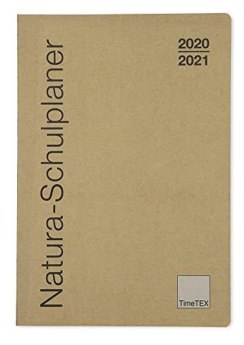 TimeTex Natura-Schulplaner A4-Plus mit Karton-Cover - Schuljahr 2020 - 2021 - Lehrerkalender - Lehrertimer - 10752